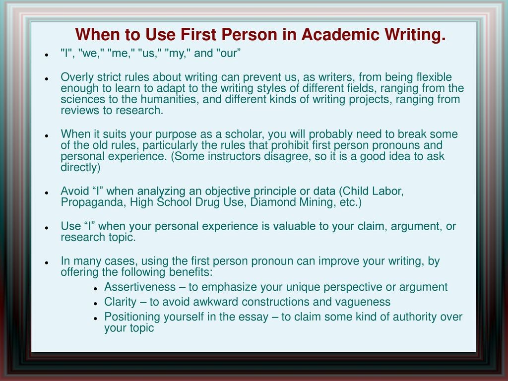 008 Whentousefirstpersoninacademicwriting Are Researchs Written In First Person Impressive Research Papers Proposals Large