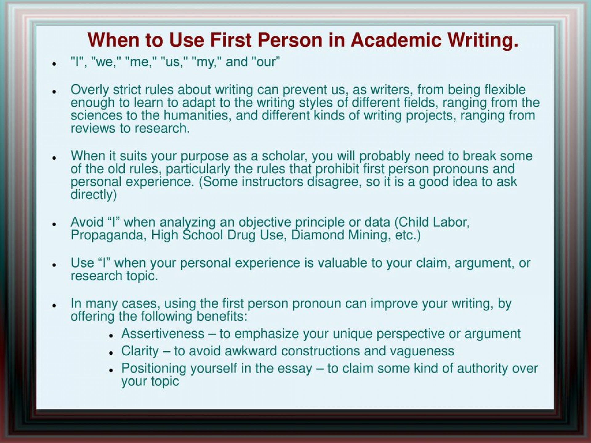 008 Whentousefirstpersoninacademicwriting Are Researchs Written In First Person Impressive Research Papers Proposals 1920