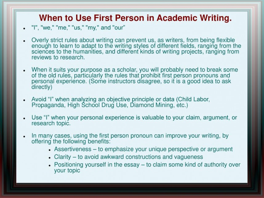008 Whentousefirstpersoninacademicwriting Are Researchs Written In First Person Impressive Research Papers The Paper Is Voice Proposals