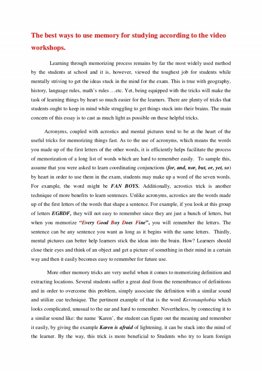 009 Anessayonmemorytricks Phpapp02 Thumbnail Research Paper Chronological Order Of Awesome A Large