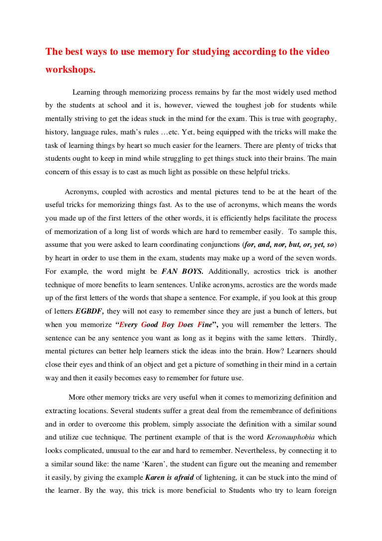 009 Anessayonmemorytricks Phpapp02 Thumbnail Research Paper Chronological Order Of Awesome A Full