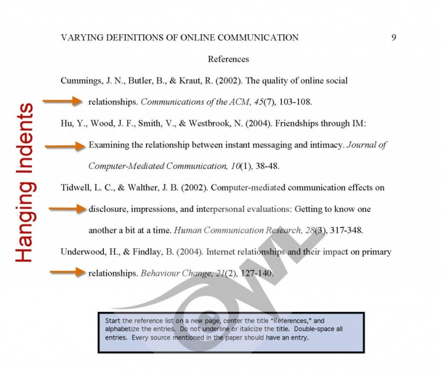 009 Apa Research Paper Citation Format Reference Page Singular Style Model