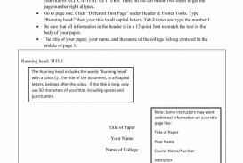 009 Apa Research Paper Cover Page Template Impressive Sample Title Format