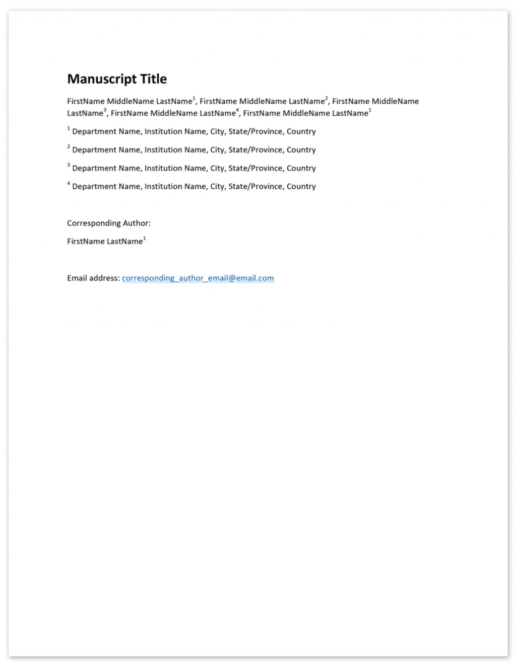 009 Author Cover Page Template V2 Citing Research Paper With Multiple Excellent Authors Large