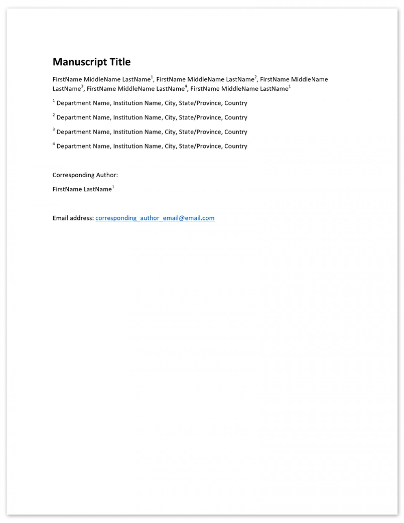 009 Author Cover Page Template V2 Citing Research Paper With Multiple Excellent Authors 1400
