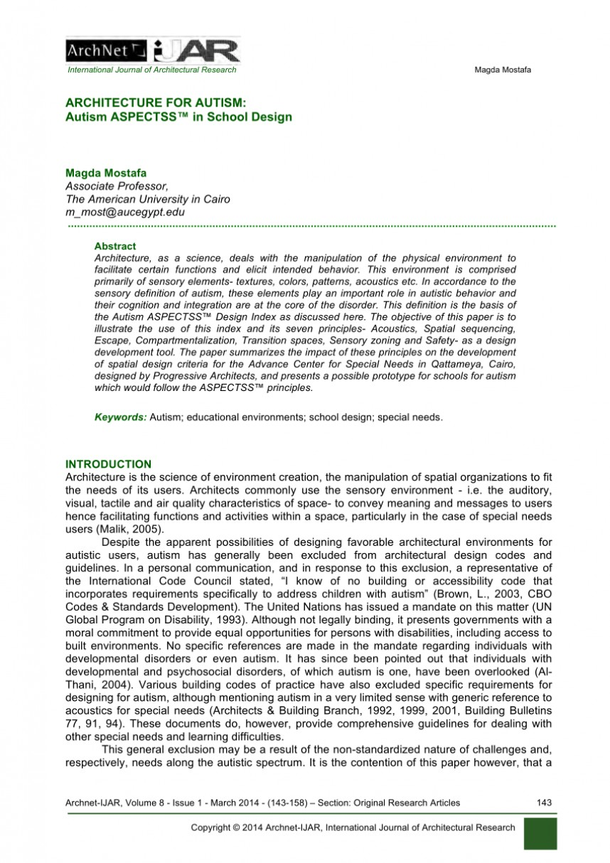 009 Autism Research Paper Thesis Fascinating