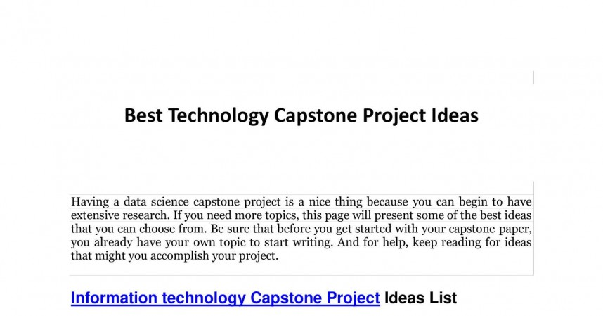 009 Best Technology Capstone Project Ideas Research Paper Topic For Shocking In Information