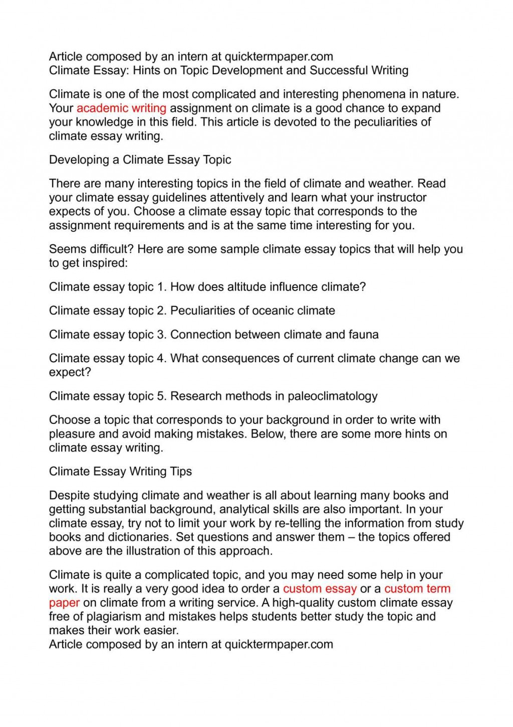 009 Climate Change Research Paper Topic Wonderful Topics For Large