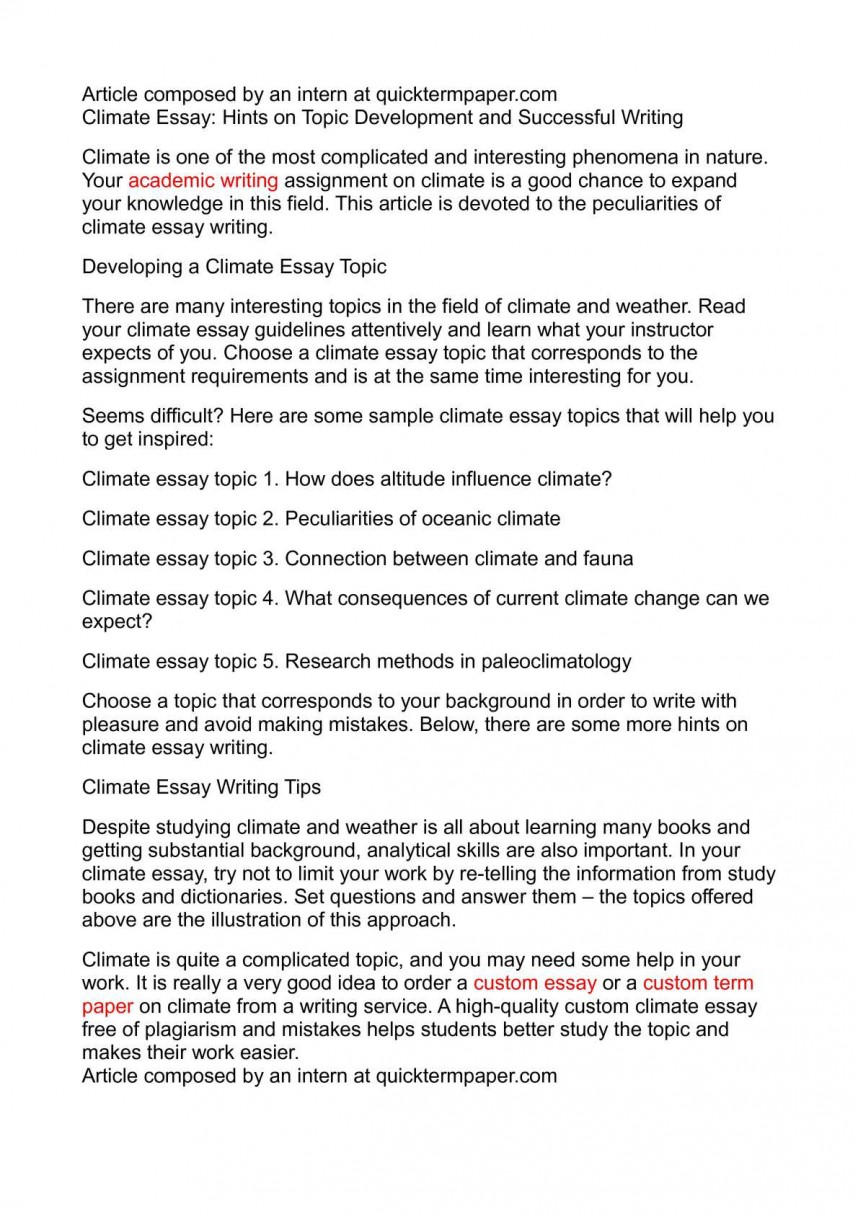 009 Climate Change Research Paper Topic Wonderful Topics For