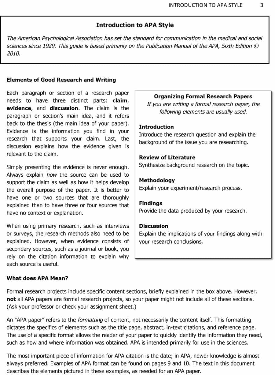 009 Components Of Research Paper Apa Template Fascinating A In Format Full