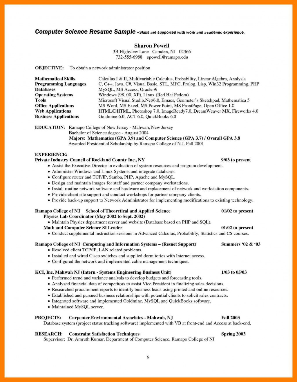 009 Computer Science Research Paper Topics Scientist Resume Examples Charming Ideas Sample Staggering 2017 Large