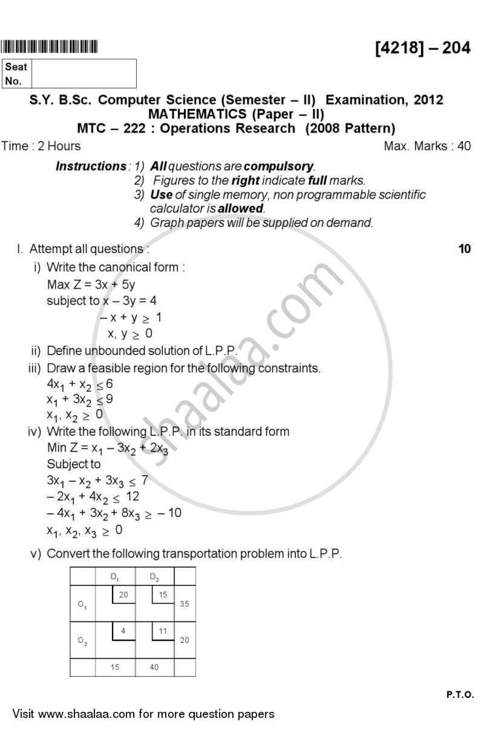 009 Computer Science Research Papers Download Paper University Of Pune Bachelor Bsc Operations Sybsc Mathematics Semester 2013 2f7cdeeceb4ce4f07837cc05dd5 Fascinating Pdf Free Ieee 1920