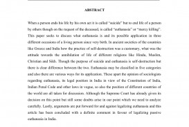 009 Conclusion For Euthanasia Research Paper Formidable