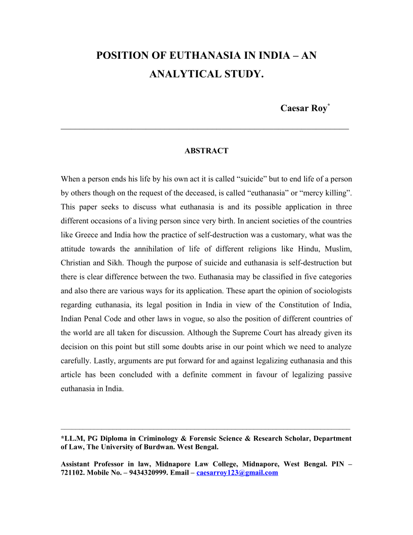 009 Conclusion For Euthanasia Research Paper Formidable Full