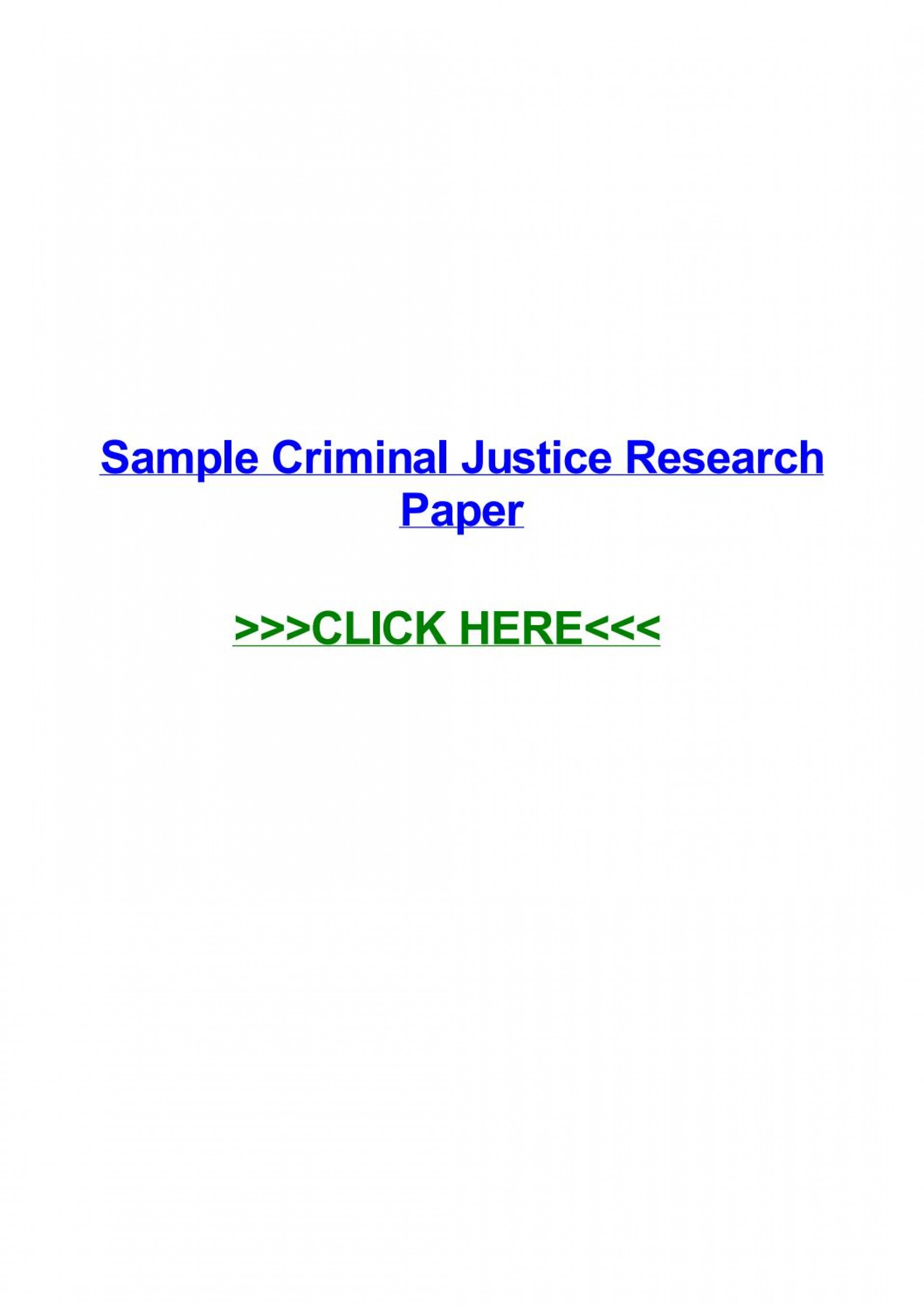 009 Criminal Justice Researchs Free Page 1 Unforgettable Research Papers 1920
