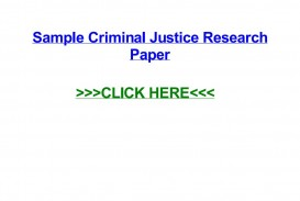 009 Criminal Justice Researchs Free Page 1 Unforgettable Research Papers