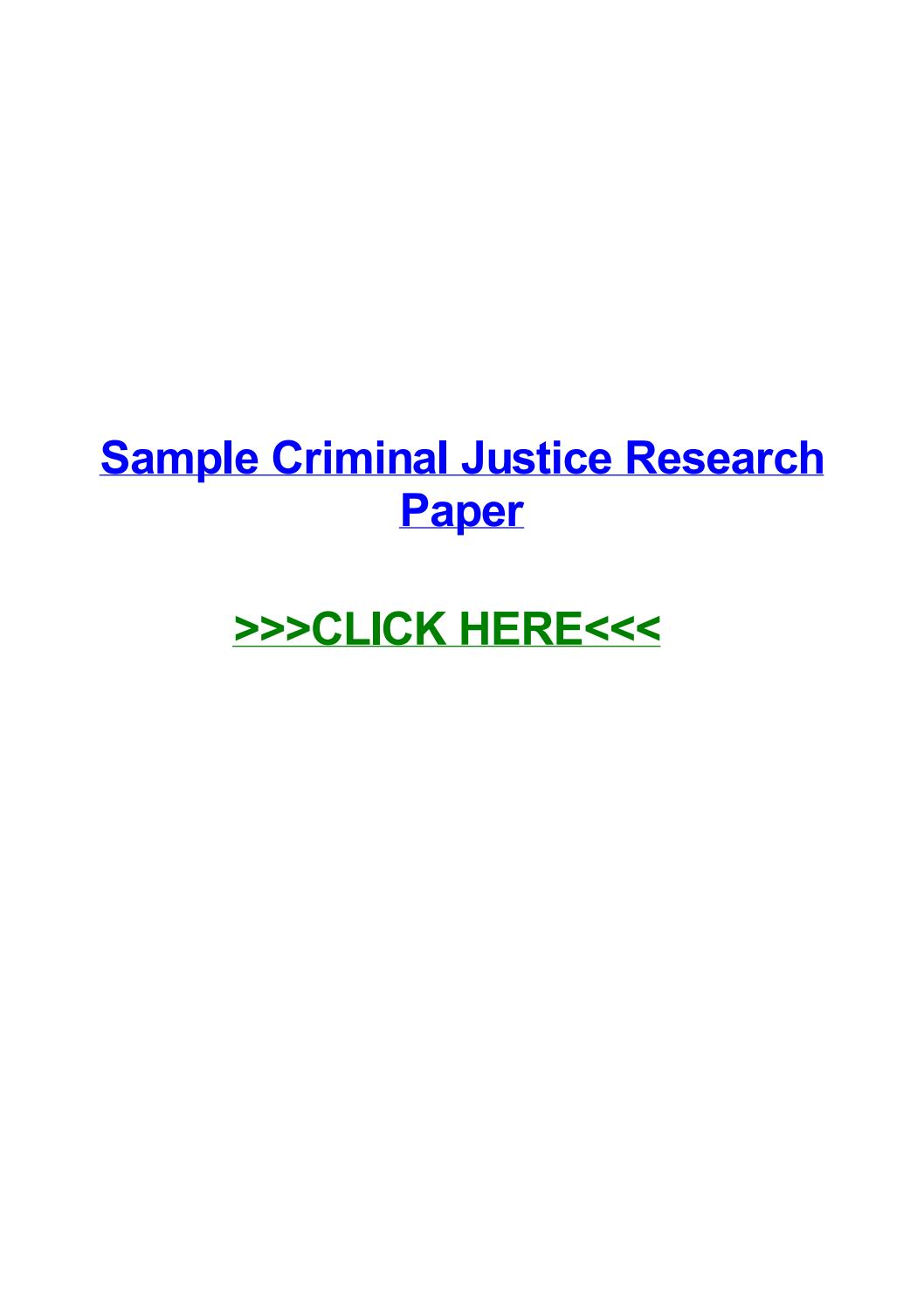 009 Criminal Justice Researchs Free Page 1 Unforgettable Research Papers Full