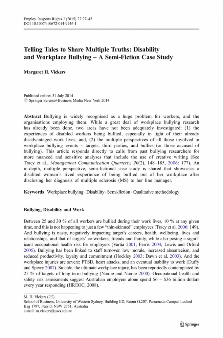 009 Cyberbullying Research Paper Pdf Narrative Essay Bullying Buy Original Conclusion To L Unique Effects Of 728