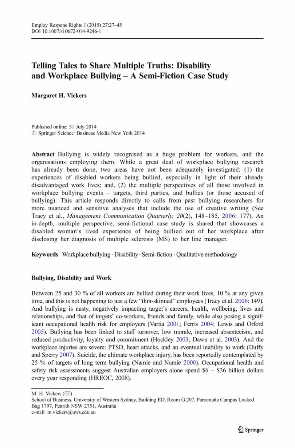 009 Cyberbullying Research Paper Pdf Narrative Essay Bullying Buy Original Conclusion To L Unique Effects Of 960