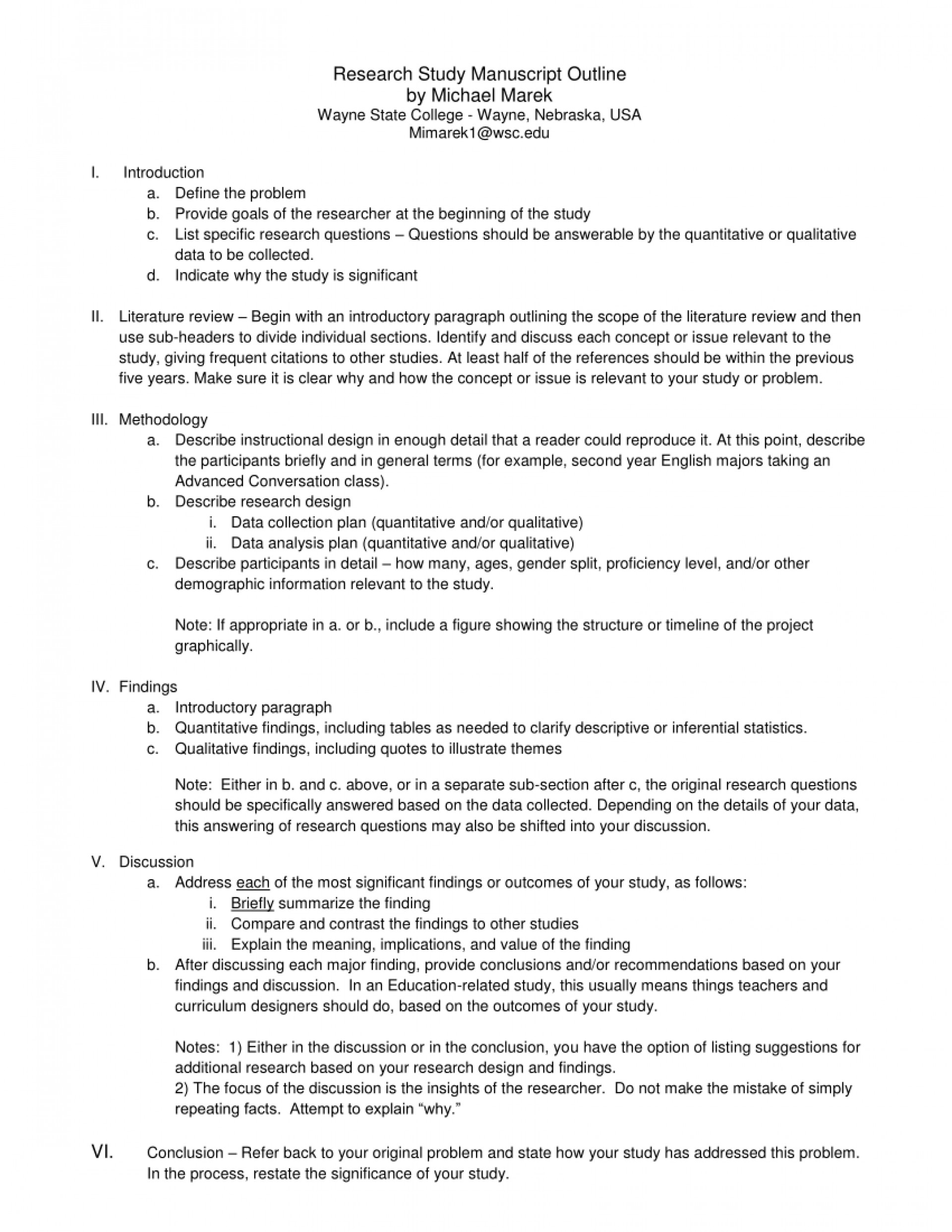 009 Define Research Paper Outline Top 1920