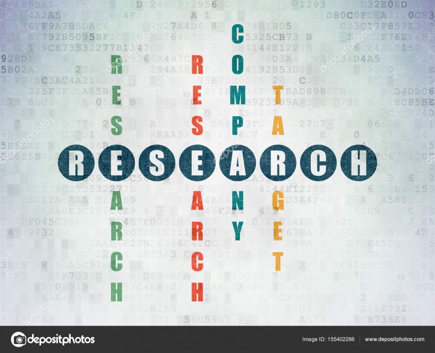 009 Depositphotos 155402286 Stock Photo Advertising Concept Research In Crossword Paper Academic Awful Papers Clue