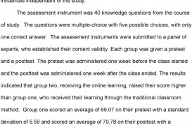 009 Effectiveness Of Online Education Research Paper Page 5 Amazing