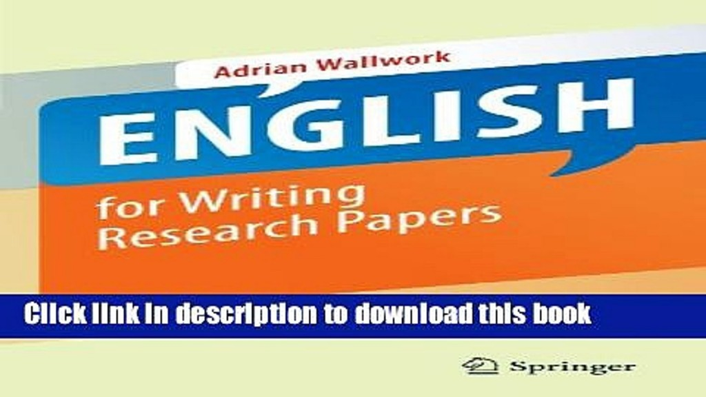 009 English For Writing Research Papers Springer Paper X1080  X4 Awesome Pdf Useful Phrases -Large