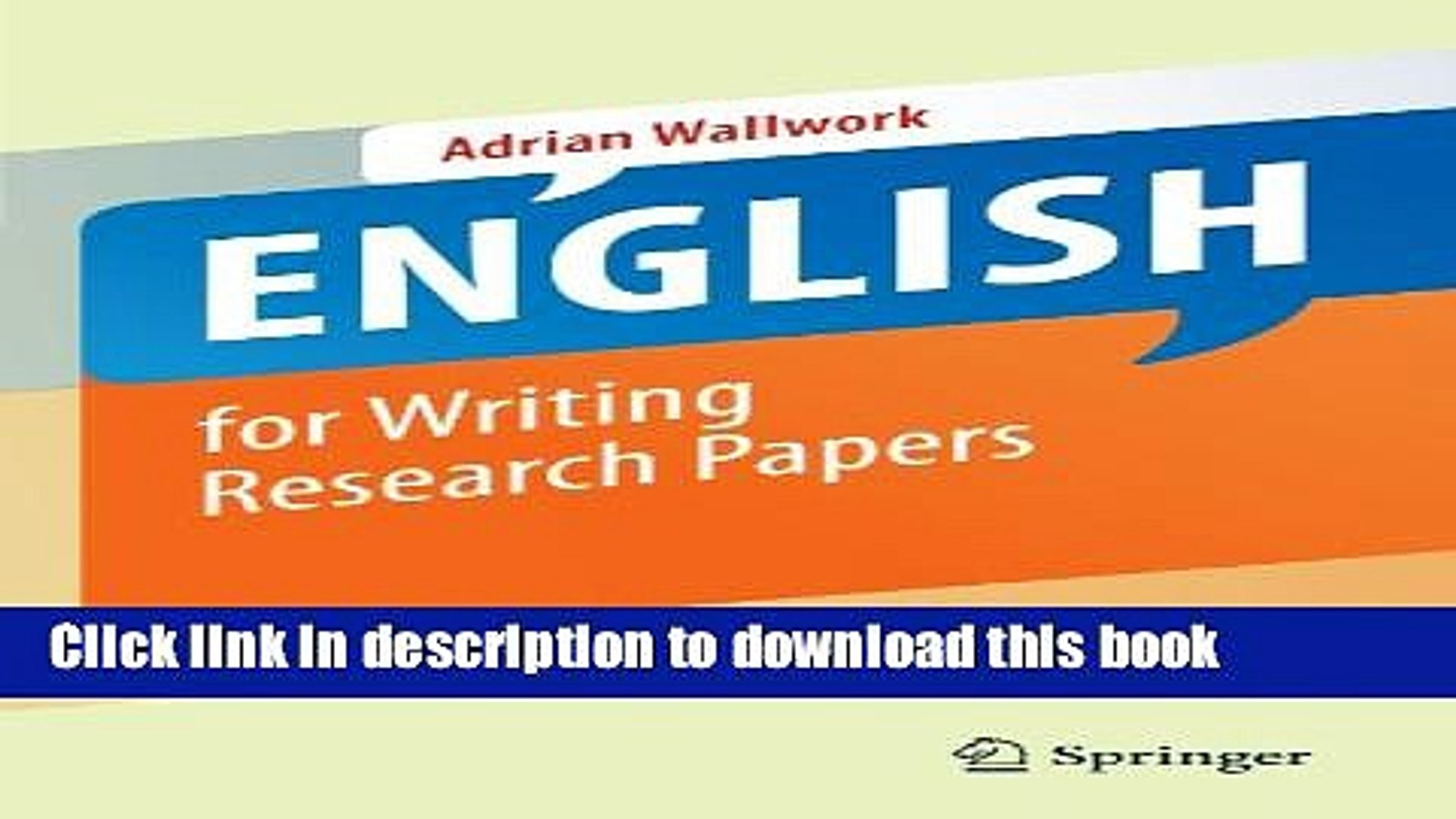 009 English For Writing Research Papers Springer Paper X1080  X4 Awesome Pdf Useful Phrases -Full