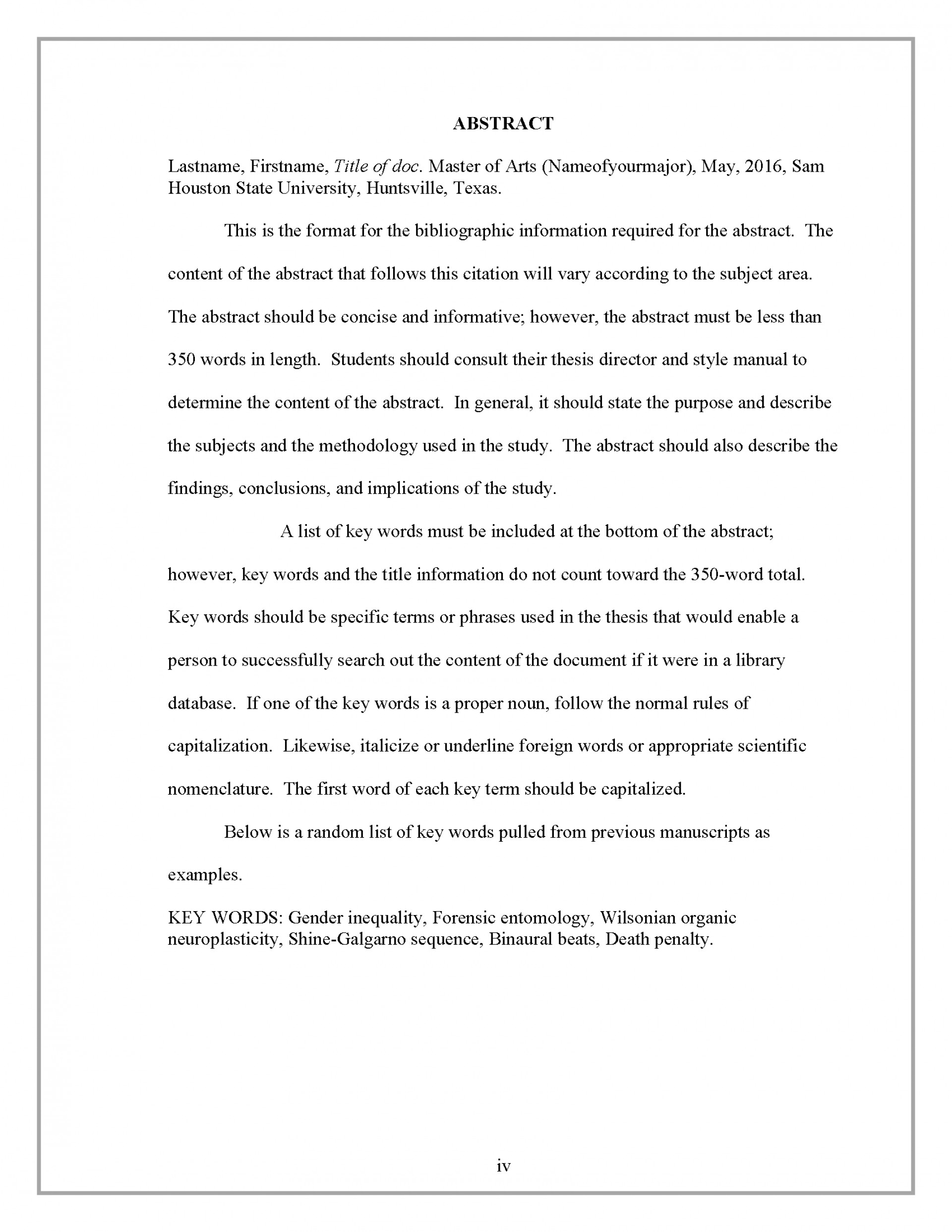 009 Example Of An Abstract For Scientific Research Paper Border Stirring A 1920