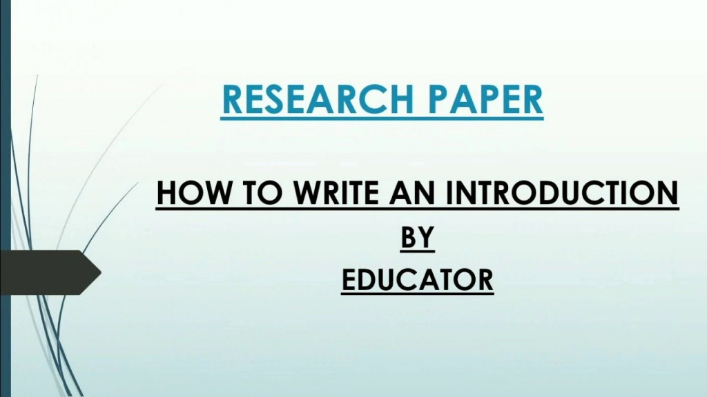 009 How To Write An Intro For Research Paper Phenomenal A Introduction Outline Mla Large