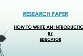 009 How To Write An Intro For Research Paper Phenomenal A Introduction Outline Mla
