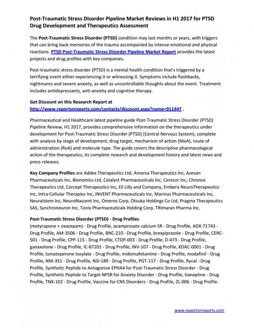 009 Latest Research On Post Traumatic Stress Disorder Page 1 Magnificent Information Questions Articles
