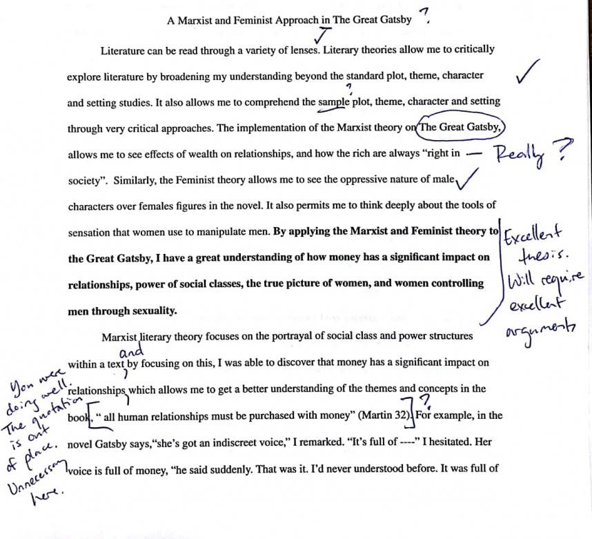 009 Level2b32bsample 1 Research Paper Remarkable Literary Analysis Example Outline Thesis Examples