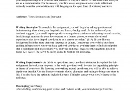 009 Literacy Narrative Unit Assignment Spring 2012 Page 1 Research Paper List Of Topics For In Sensational Education