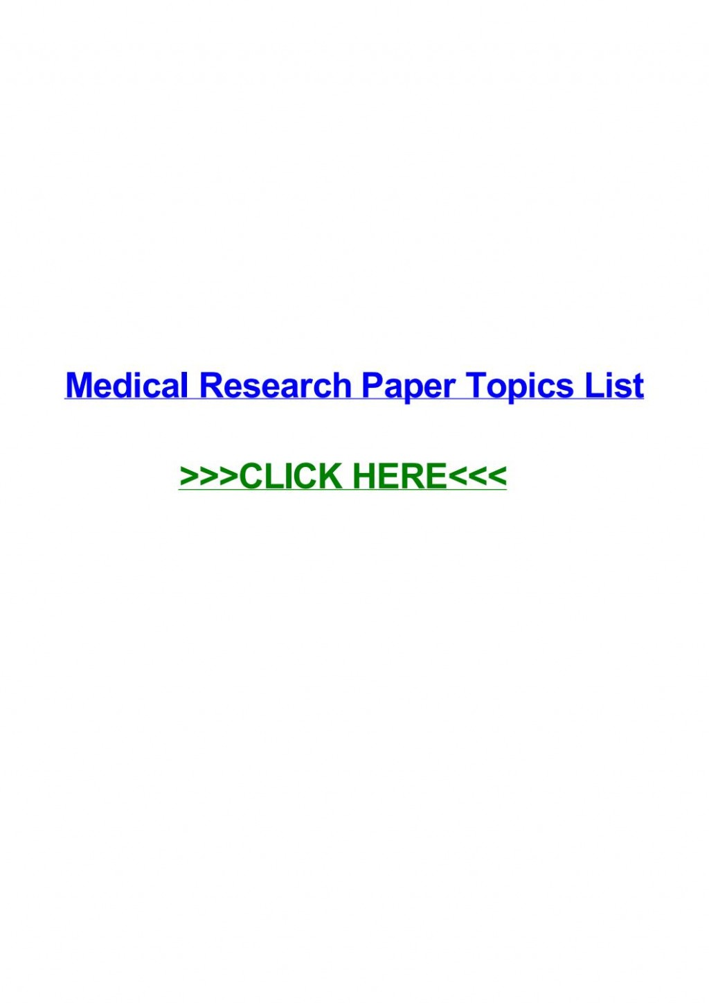 009 Medical Topics For Research Paper Page 1 Imposing Argumentative Interesting Large