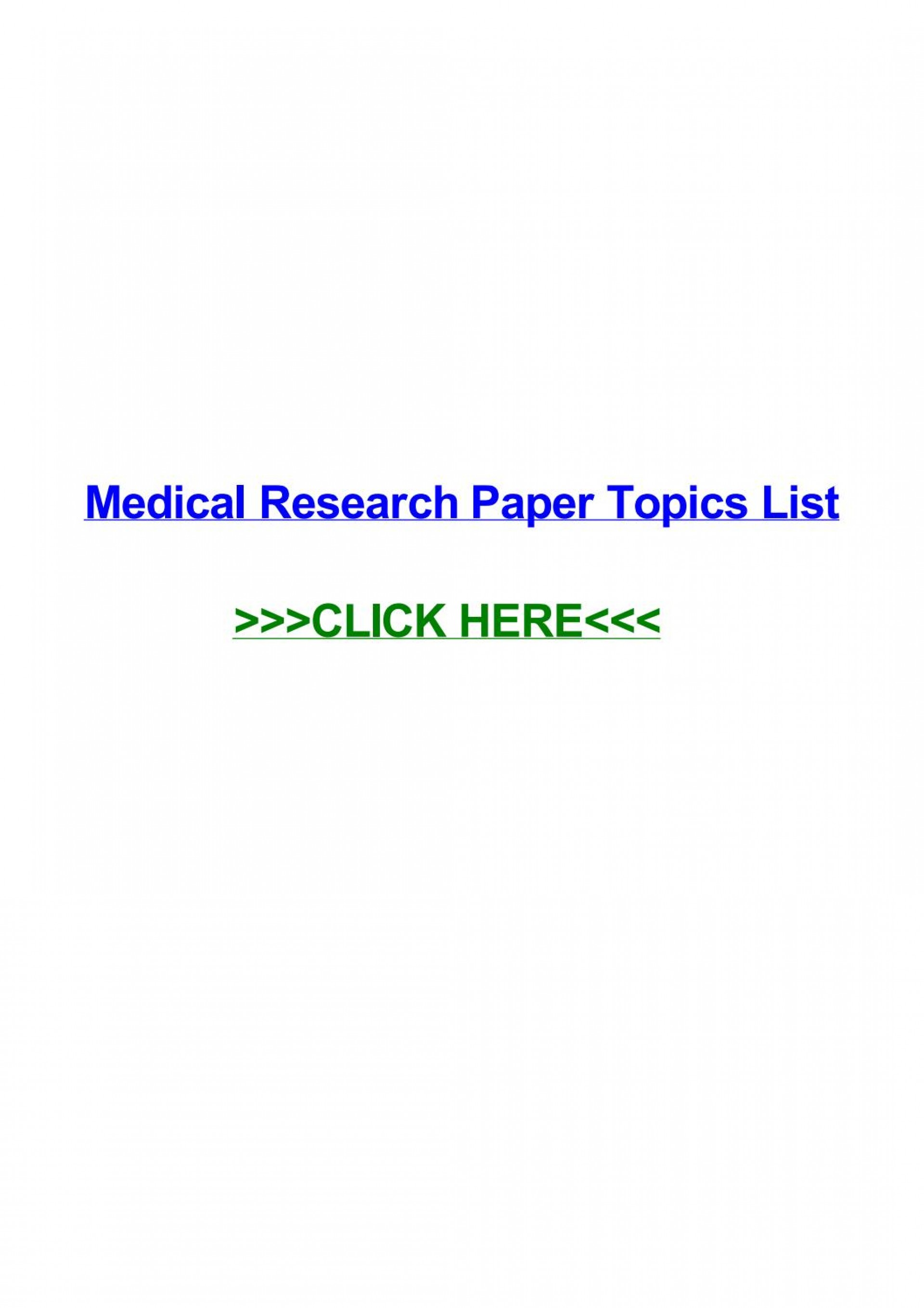 009 Medical Topics For Research Paper Page 1 Imposing Argumentative Interesting 1920