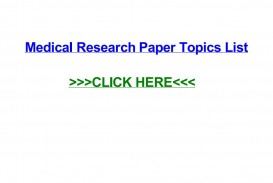 009 Medical Topics For Research Paper Page 1 Imposing Argumentative Interesting