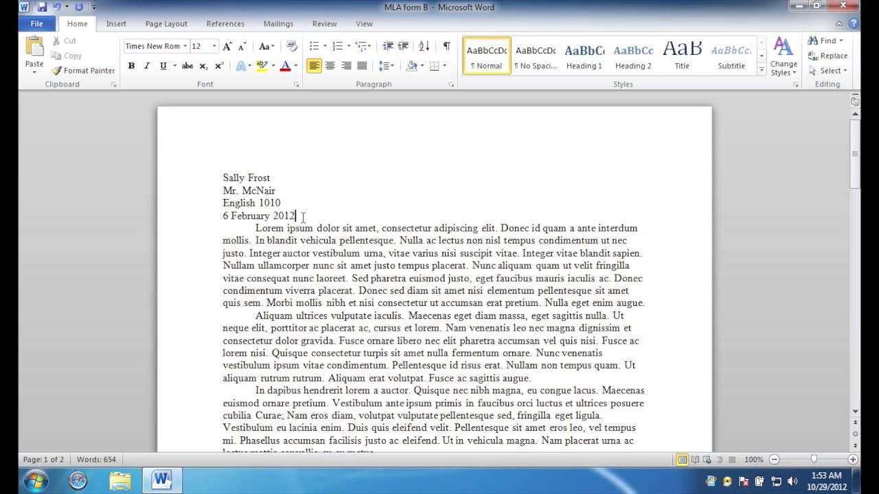 009 Mla Format For Essays And Researchs Using Microsoft Word Maxresdefault Stirring Research Papers 2010 Full