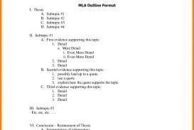 009 Mla Research Paper Format Template Outline Examples 148 Awesome Example