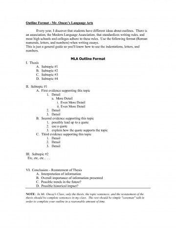 009 Mla Sample Research Paper Outline Format Example 474545 Striking With Cover Page Aliens 360