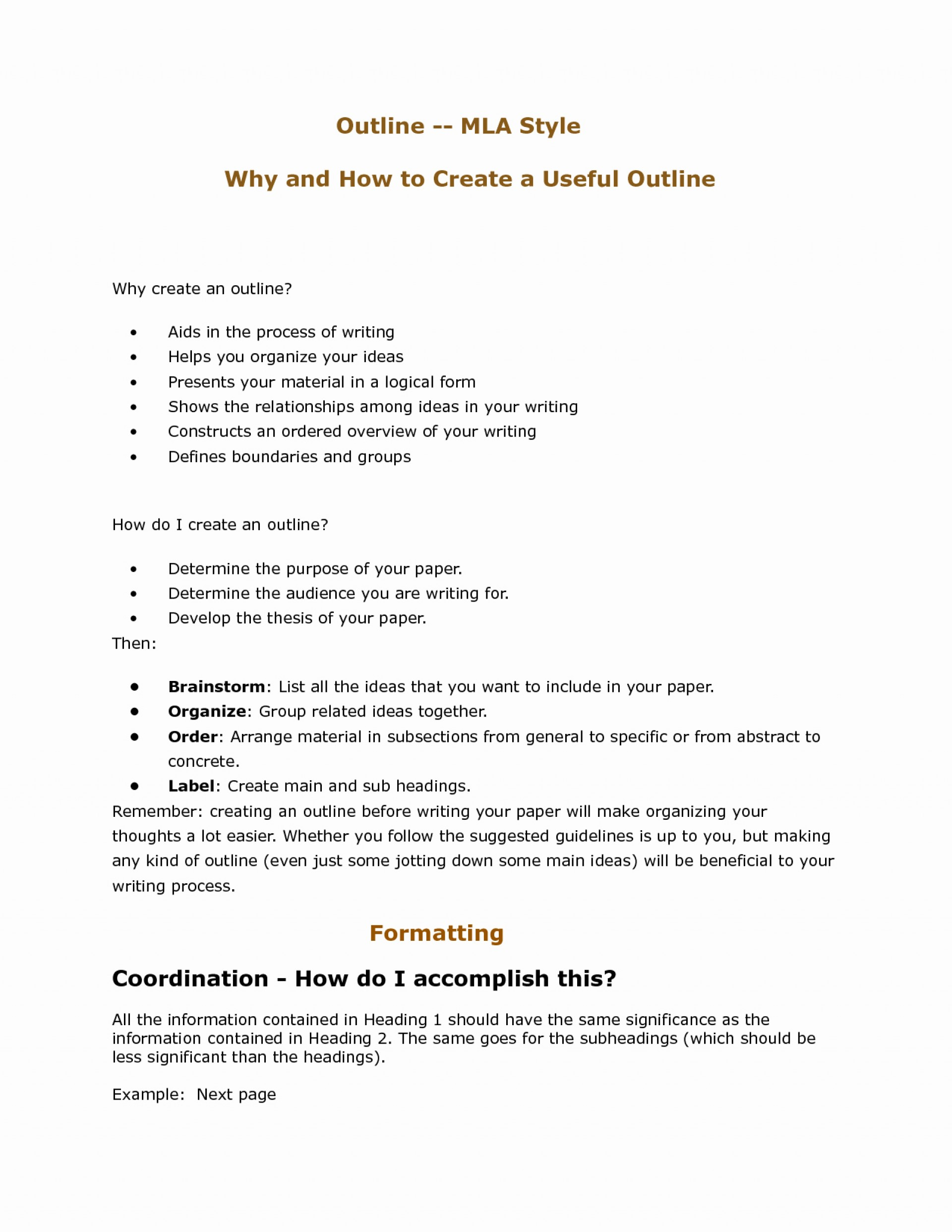 009 Outline Format For Research Paper Mla Style Essay Template Beautiful Best S Of College Formidable Sample 1920