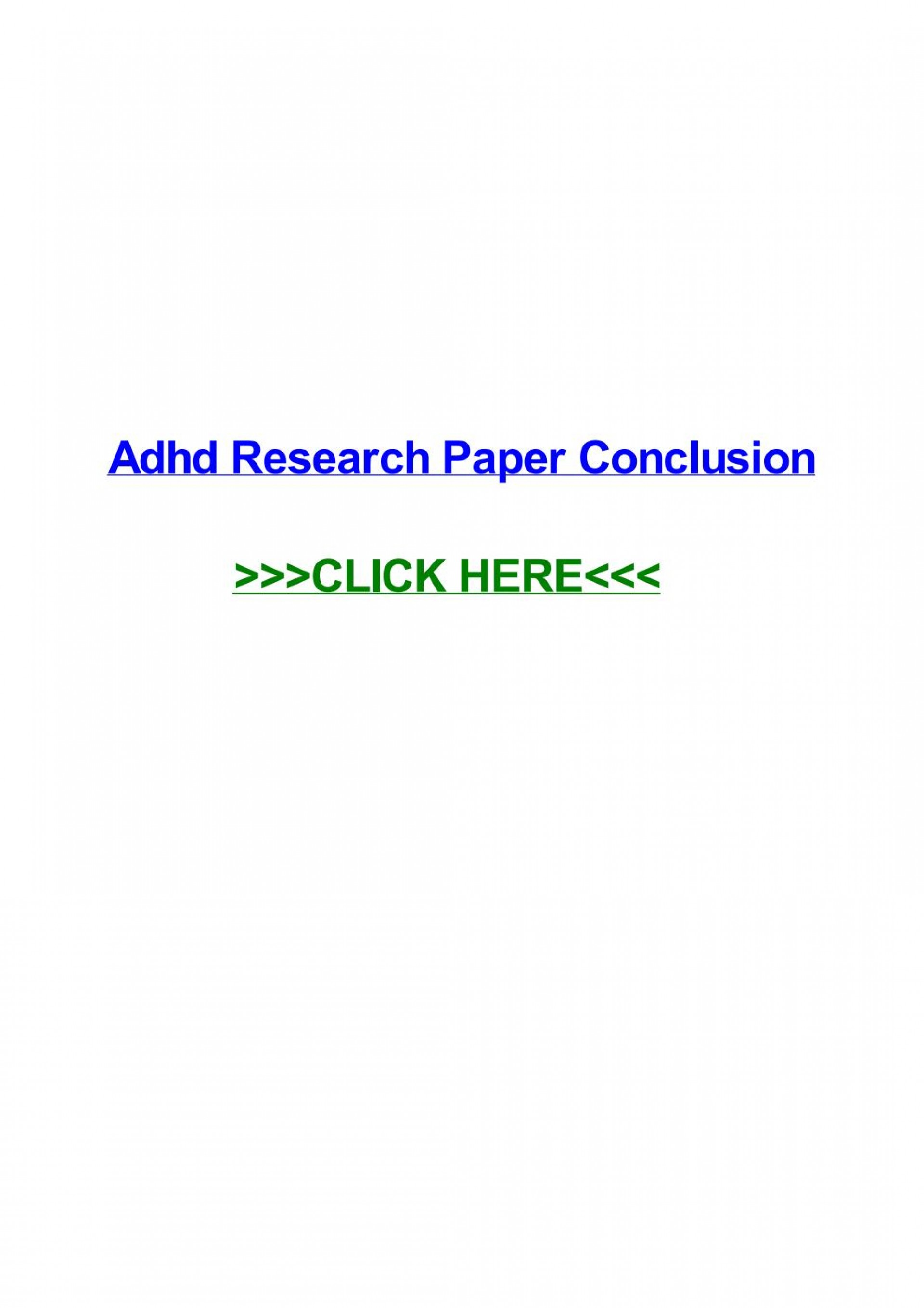 009 Page 1 Adhd Research Paper Impressive Conclusion 1920