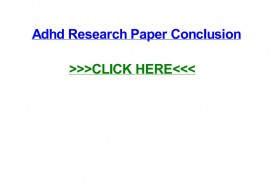 009 Page 1 Adhd Research Paper Impressive Conclusion