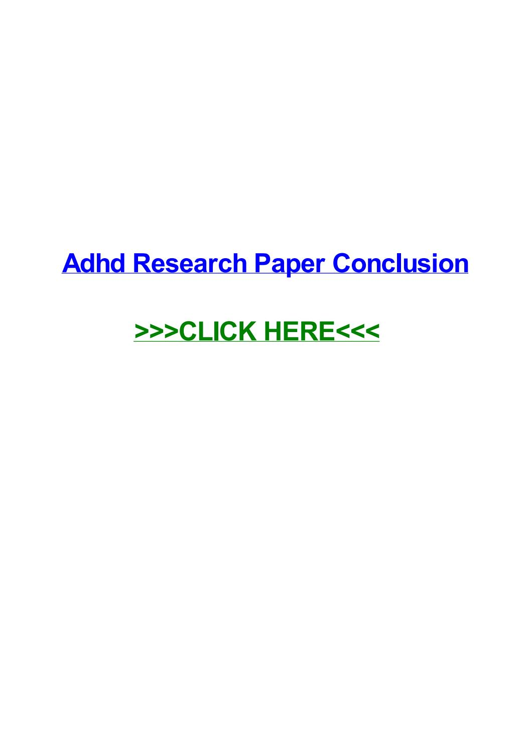 009 Page 1 Adhd Research Paper Impressive Conclusion Full