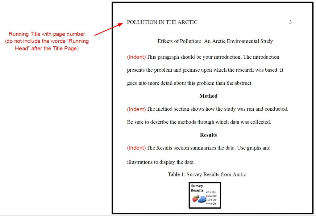 009 Proper Order Of Sections Research Paper In Apa Format Marvelous A Large