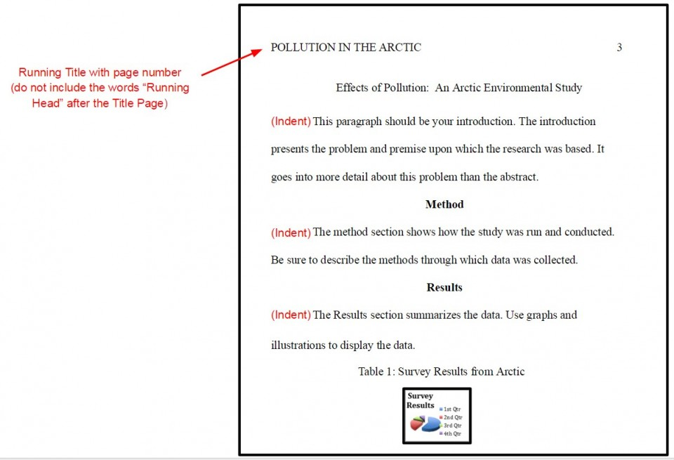 009 Proper Order Of Sections Research Paper In Apa Format Marvelous A 960