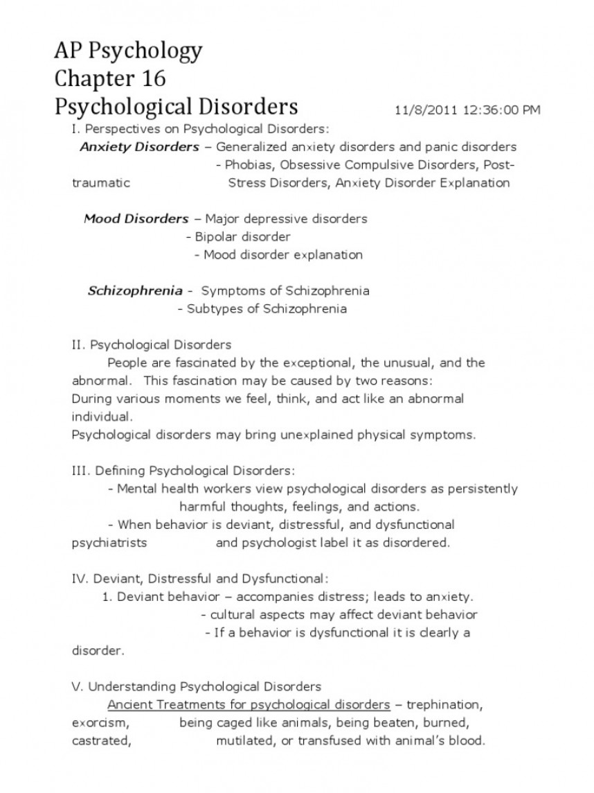 009 Psychology Research Paper Outline Bipolar Disorder Essay Topics Title Pdf College Introduction Question Conclusion Best Apa Forensic 868