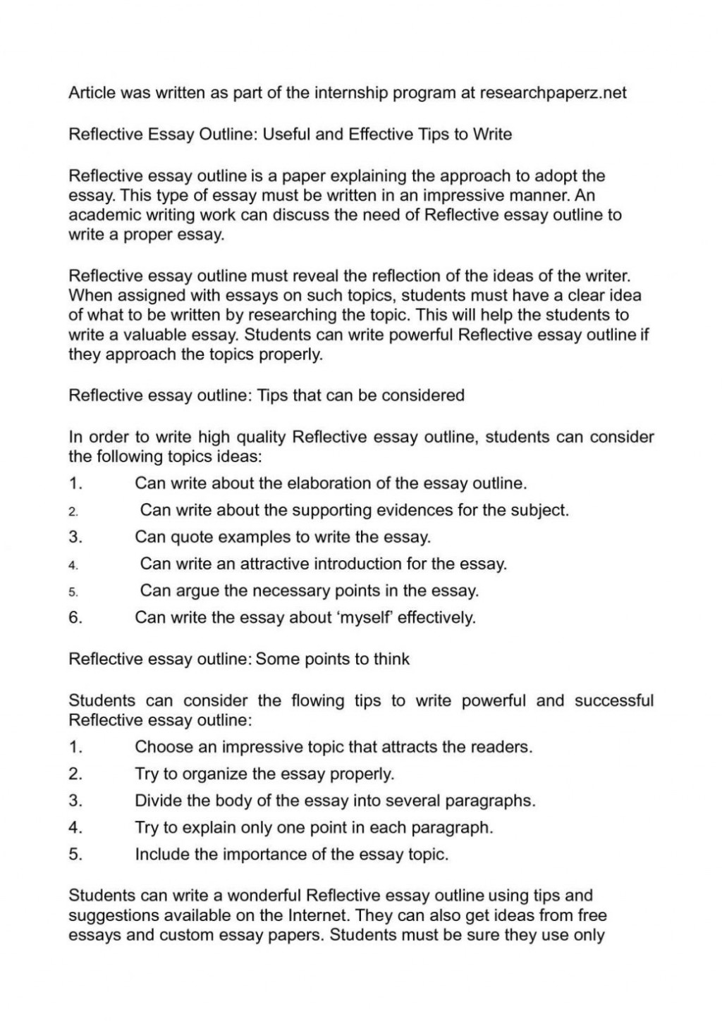 009 Research Paper Already Written Papers For Free Examples Of Reflective Writing Essays P1 Essay Outline Homework Academic Service Avessaymtbb Infra Image Inspirations Unique Pre Large