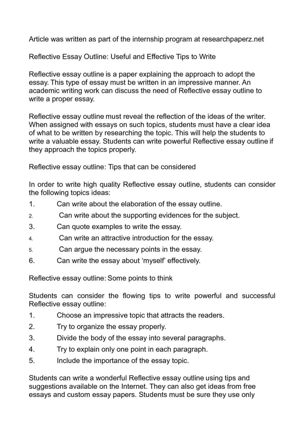 009 Research Paper Already Written Papers For Free Examples Of Reflective Writing Essays P1 Essay Outline Homework Academic Service Avessaymtbb Infra Image Inspirations Unique Pre Full