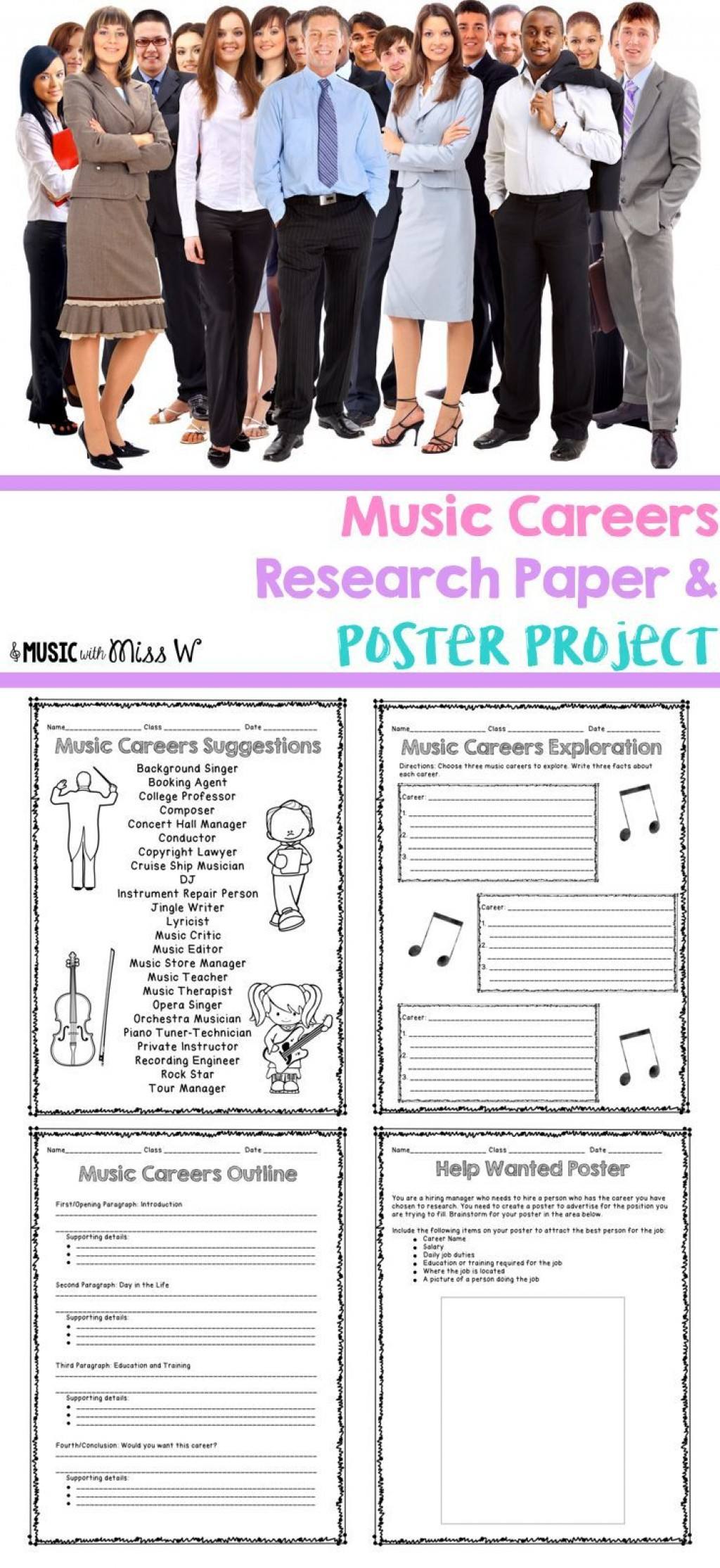 009 Research Paper Career Outline Middle School Dreaded Large